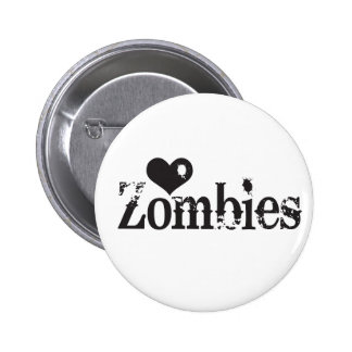 Love (Heart) Zombies Pinback Buttons