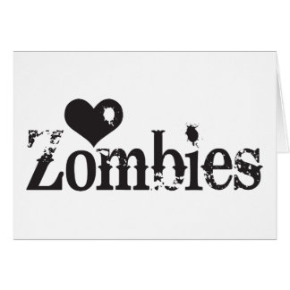 Love (Heart) Zombies Greeting Card