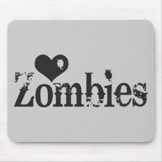 Love (Heart) Zombies Mouse Pad