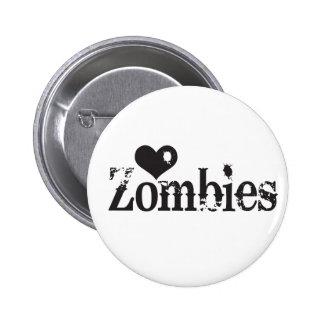 Love (Heart) Zombies Pinback Button