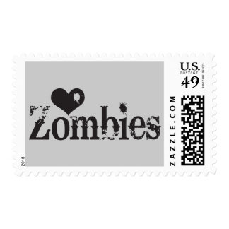 Love (Heart) Zombies Stamps