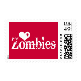 Love (Heart) Zombies Postage Stamp