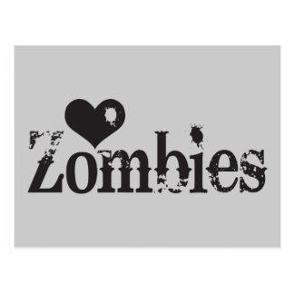 Love (Heart) Zombies Postcard