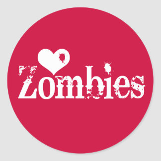 Love Heart Zombies Stickers