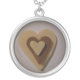 Love Hearts Abstract Art Necklace