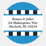 Love! Hearts Address Label - Blue Stickers