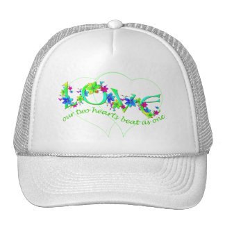 Love Hearts and Flowers Hat