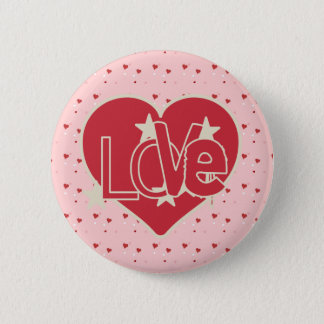 Love Hearts and Stars Button