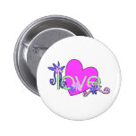 Love, Hearts and Valentines Pinback Button