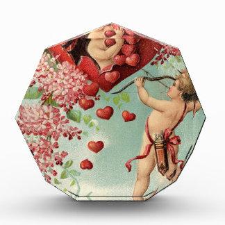 love hearts angel cherub vintage valentine acrylic award