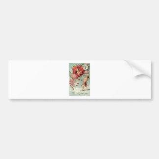 love hearts angel cherub vintage valentine bumper sticker