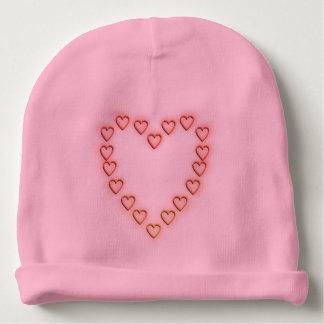 Love hearts. baby beanie