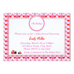 Love Hearts Baby Shower Flat Card Invitation