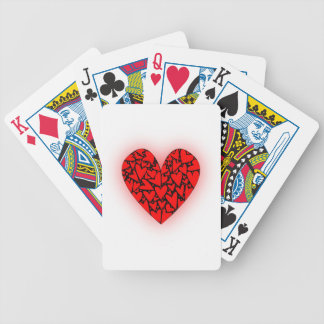 Love Hearts Bicycle Playing Cards