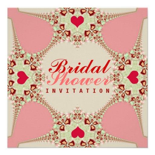 Love Hearts Bridal Show Invitation
