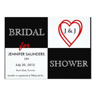 LOVE Hearts Bridal Shower Invitation