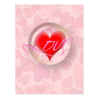 LOVE HEARTS BUBBLE by SHARON SHARPE Post Card