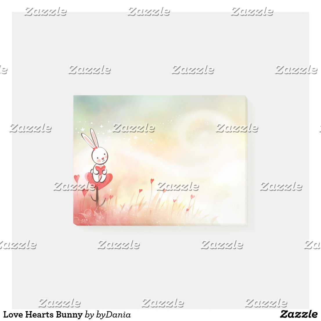 Love Hearts Bunny Post-it Notes