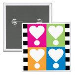 Love! Hearts Button Pin