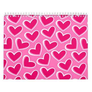 Love hearts calendar