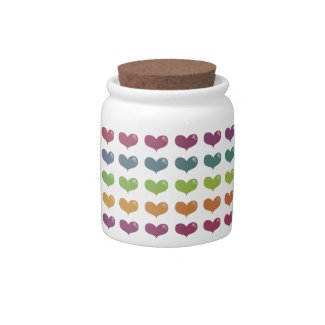 Love Hearts Candy Jar