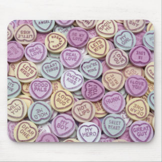 Love Hearts Candy Mouse Mat