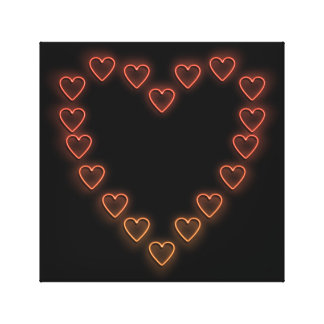 Love hearts. canvas print