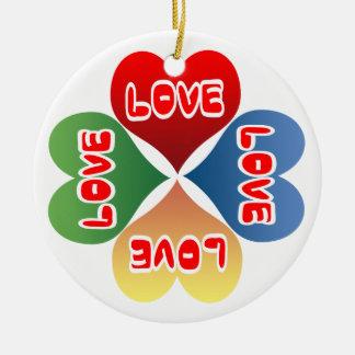 Love Hearts Ceramic Ornament