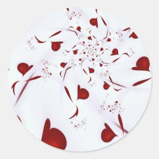 Love Hearts Classic Round Sticker