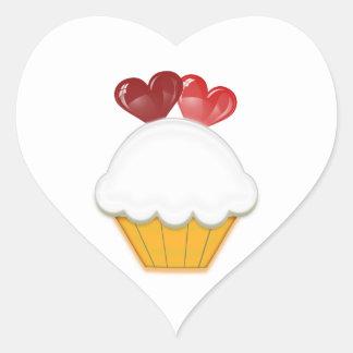 Love Hearts Cupcake Art Heart Sticker