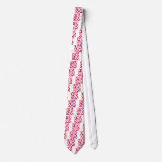 Love Hearts cute drawing eclectic vintage red pink Tie