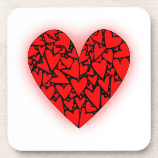 Love Hearts Drink Coaster