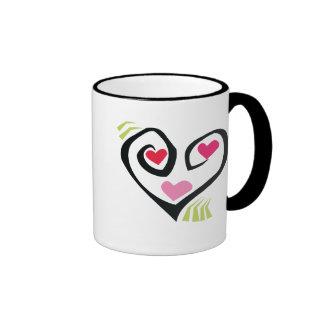 Love Hearts Gifts Ringer Mug
