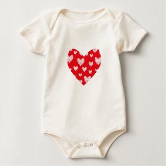 Love Hearts in Hearts Baby Bodysuit