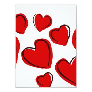 Love Hearts 5.5x7.5 Paper Invitation Card