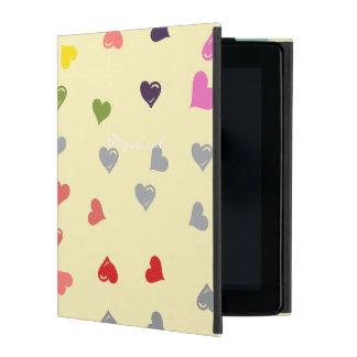 Love Hearts iPad Folio Case