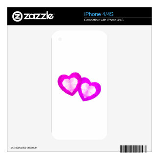 Love Hearts iPhone 4S Decals