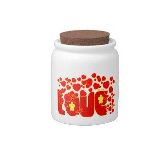 Love Hearts - John 13:34 Candy Dish