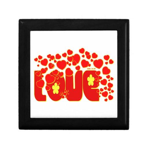 Love Hearts - John 13:34 Keepsake Boxes