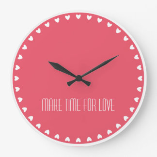 Love Hearts 'Make Time for Love' Clock