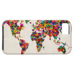 Love Hearts Map of the World Map iPhone 5 Cases