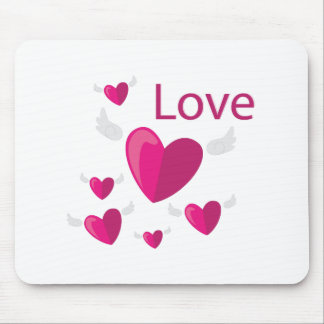 Love Hearts Mouse Pad