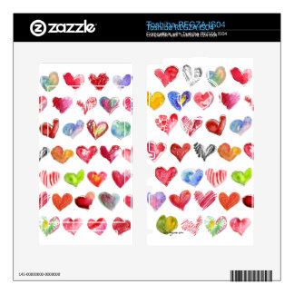 Love Hearts on White Toshiba Phone Skin Toshiba REGZA Skin