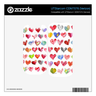 Love Hearts on White UTStarcom Phone Skin