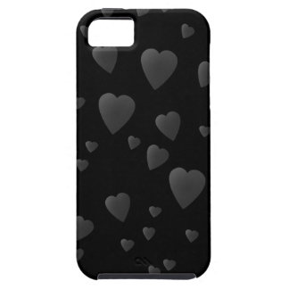 Love Hearts Pattern in Black and Gray. iPhone SE/5/5s Case