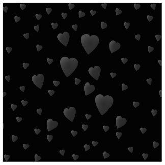 Love Hearts Pattern in Black and Gray. Acrylic Cut Outs