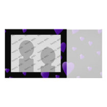 Love Hearts Pattern in Black and Purple. Card