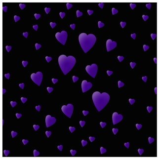 Love Hearts Pattern in Black and Purple. Cutout