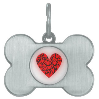 Love Hearts Pet Name Tag