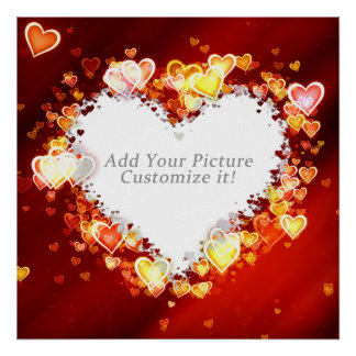 Love Hearts Picture Frame Poster